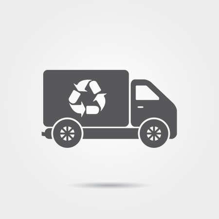 トラックのアイコンをリサイクルします。  イラスト・ベクター素材