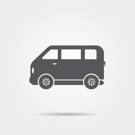 minibus: Minibus icon Illustration