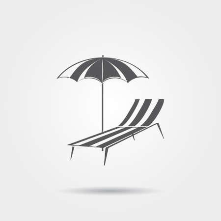 recline: Beach chair icon