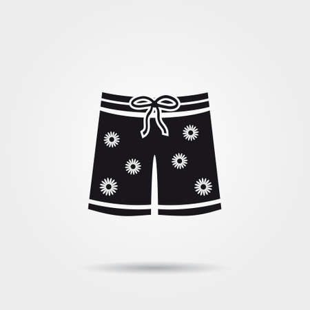 beachwear: Shorts icon Illustration