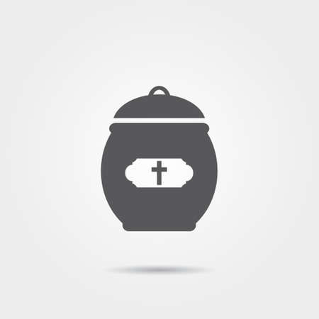 cremated: Cremation Urn Icon