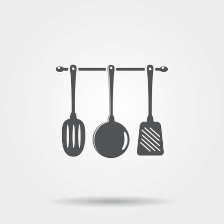 kitchen utensil: Kitchen utensil icon Illustration