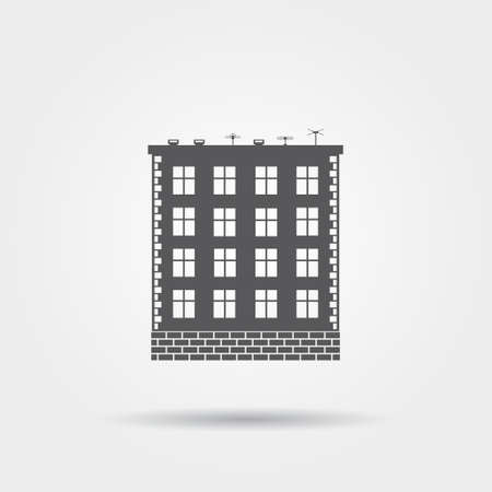 apartment house: Apartment house vector icon