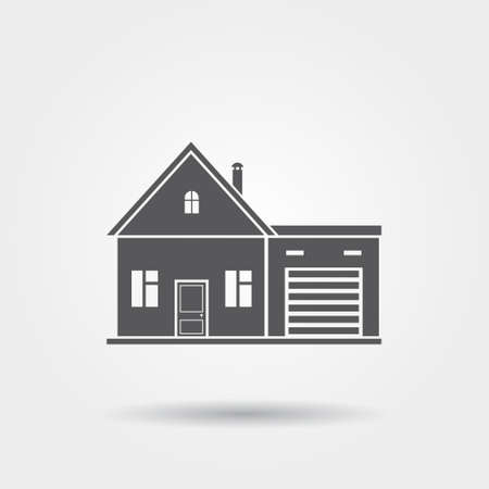 residential house: Vector home icon