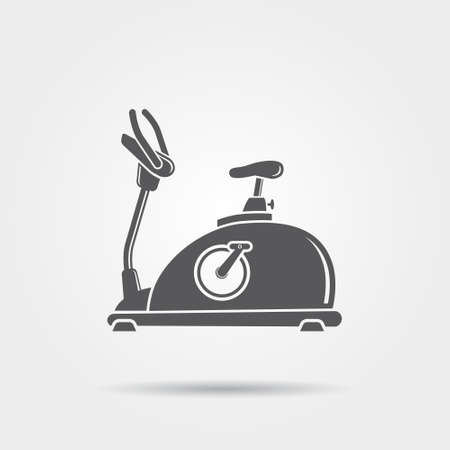 workout gym: Exercise Bike Icon Illustration