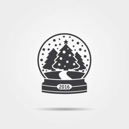 blizzards: Christmas snow globe icon