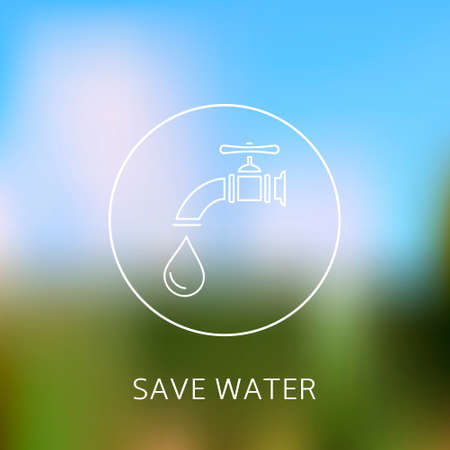 watertap: Save water concept. Water conservation concept.