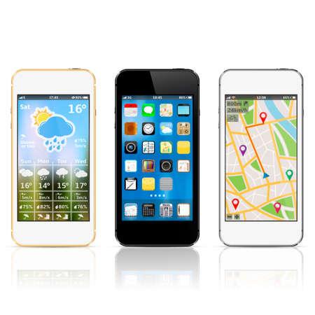 Smart phones with widgets