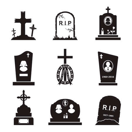 graves: Grave Icons Set