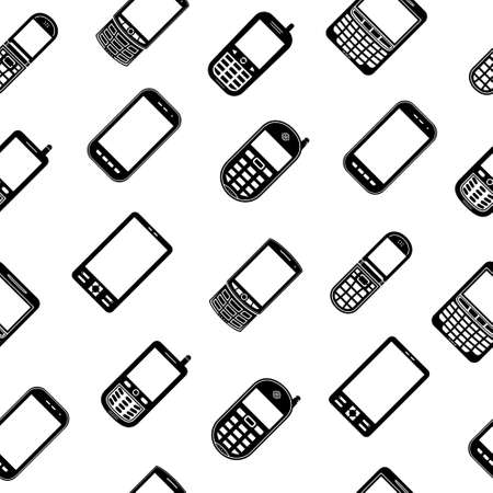 call icon: Mobile phones seamless pattern