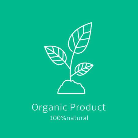 Sprout-Symbol. Bio-Produkt-Banner. Vektor-Illustration.