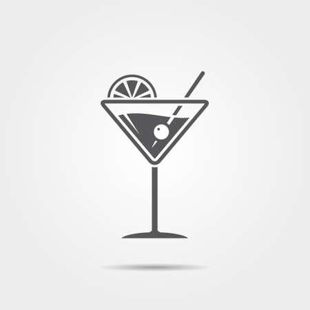 copa martini: icono de copa de martini. Ilustraci�n del vector.