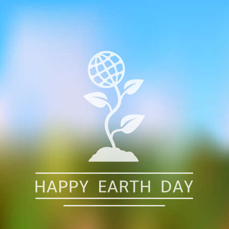 earth day: Happy Earth Day Blurred Background Illustration