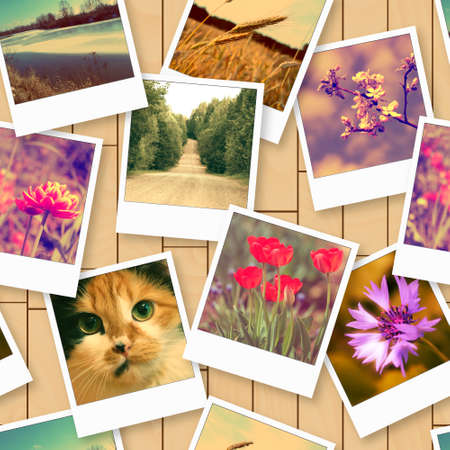 photos of pattern: Seamless pattern with vintage photos
