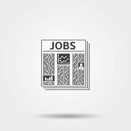jobs: Jobs newspaper icon Illustration