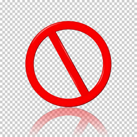 Stop Sign, isolated on transparent background Illustration