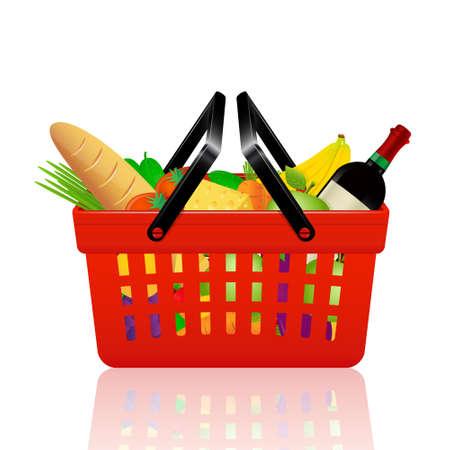 Basket full off fruits and vegetables