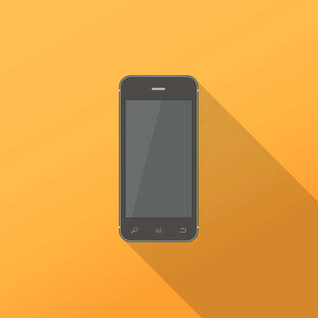 mobile phone icon: Mobile phone icon, long shadow design