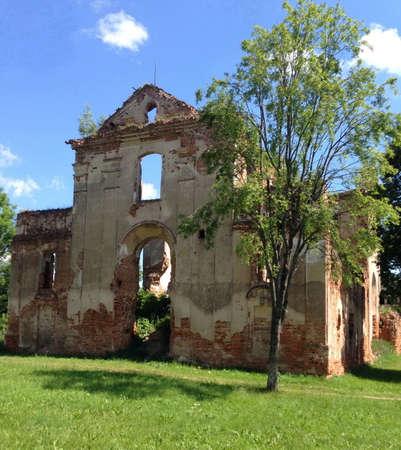 church ruins: Medieval church ruins