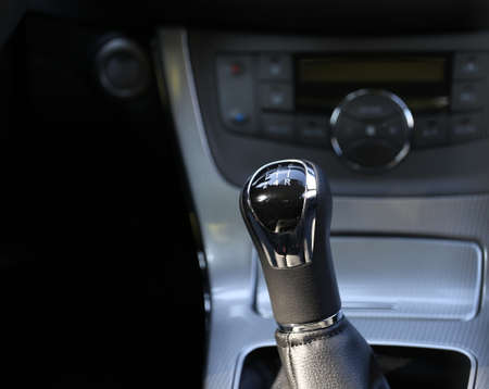 sequential: Manual gearbox in the car Stock Photo