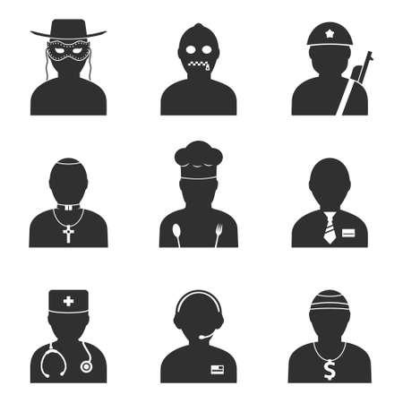 profesiones: Profesiones iconos conjunto