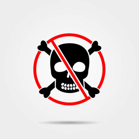 stop piracy: No skull and bones sign Illustration