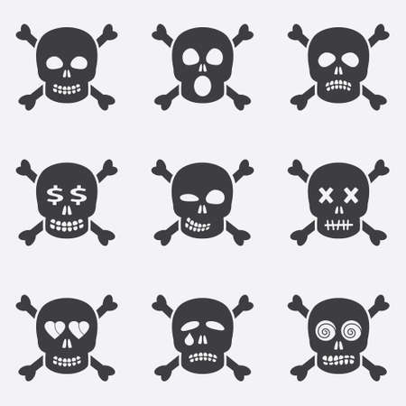 Smile icons in a skull shape