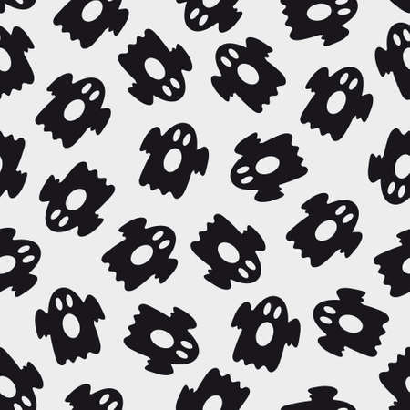 Seamless halloween pattern with ghosts