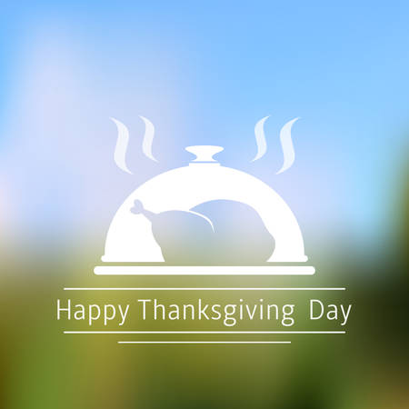 Happy Thanksgiving Day abstract blurred background