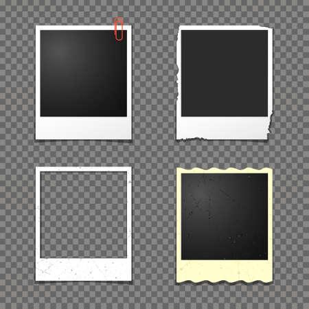 photoframe: instant photo frames isolated on transparent background