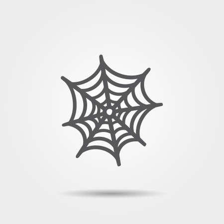 Spinnenweb icoon. illustratie.