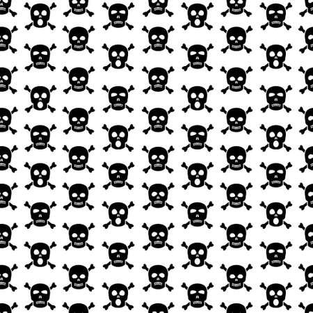 damnation: Skulls and crossbones seamless pattern Illustration