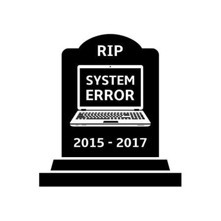 malfunction: Gravestone for laptop.