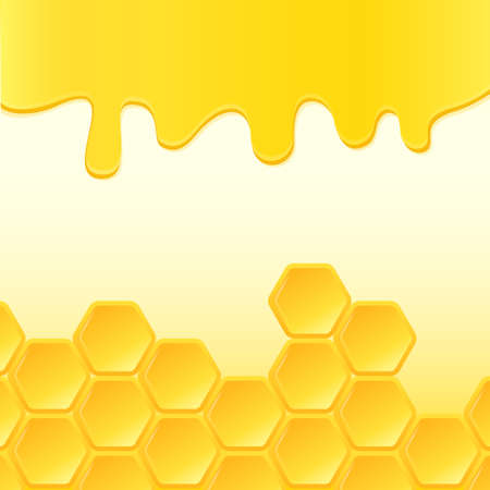 Abstract backdrop with honeycomb