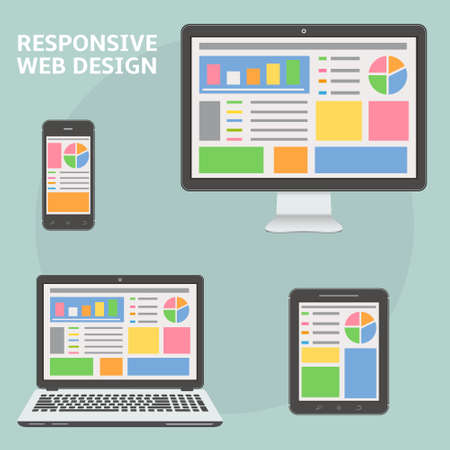 pc icon: Responsive web design Illustration