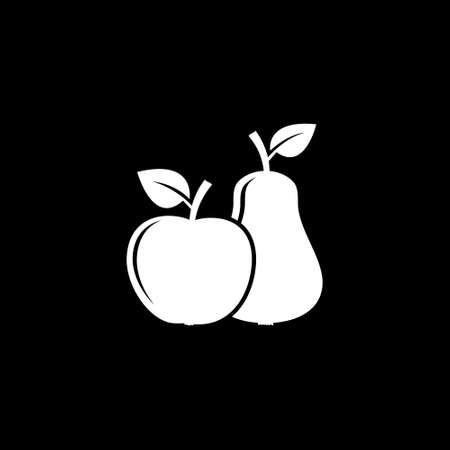 Apple con icono de pera. Ilustración vectorial Vectores