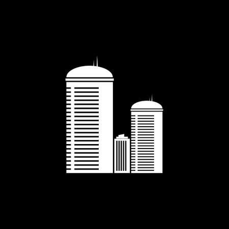 real estate house: Modern city icon. Vector illustration. Illustration