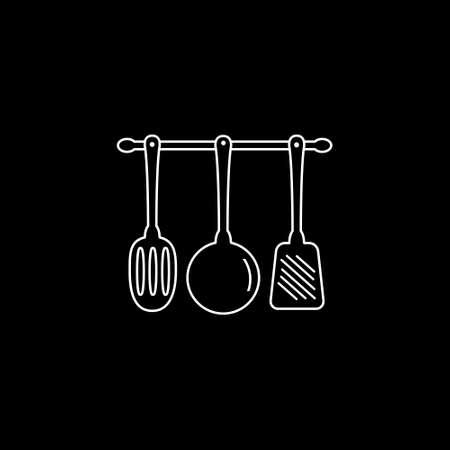 Kitchen utensils icon. Vector illustration.