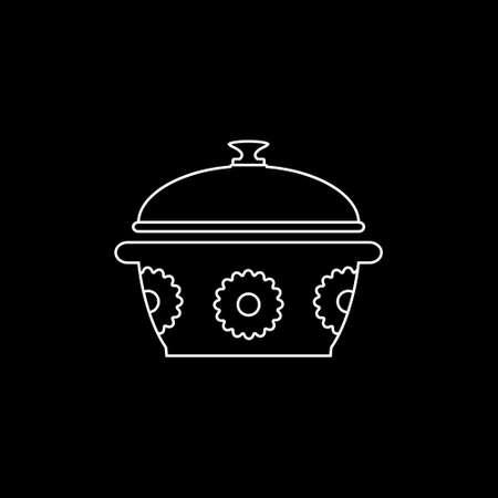 Saucepan line icon. Vector illustration. Illustration