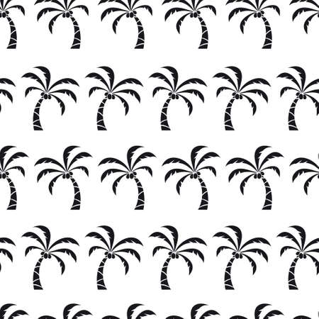Vector seamless pattern with palm trees