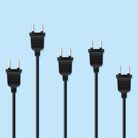 Many power supply plugs