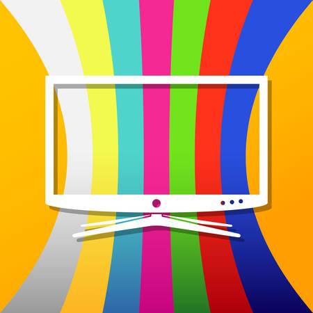 Background with smart tv Illustration
