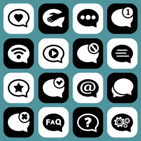 Speech bubbles chat and messages icons.