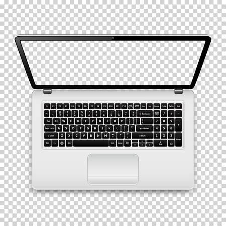 Ordenador portátil con pantalla transparente Foto de archivo - 88396681