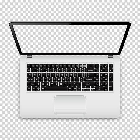 Laptop with transparent screen Illustration