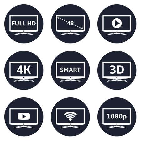 Smart tv icons Illustration