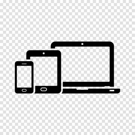 Responsive design icons: laptop, tablet and smartphone