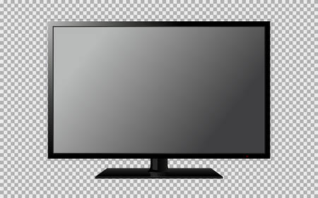 Modern TV with blank screen isolated on transparent background Vettoriali