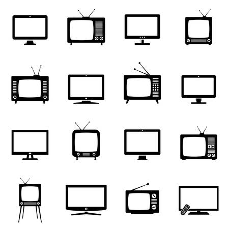TV icons set Illustration