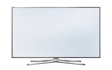 Smart tv led monitor isolated on white background Illustration